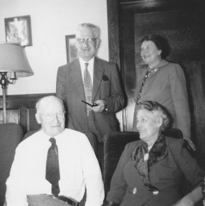 George_and_Alice_Allison_Standing_David_McCoy_and_Sister_Jennie_Beulon_Sitting_1950